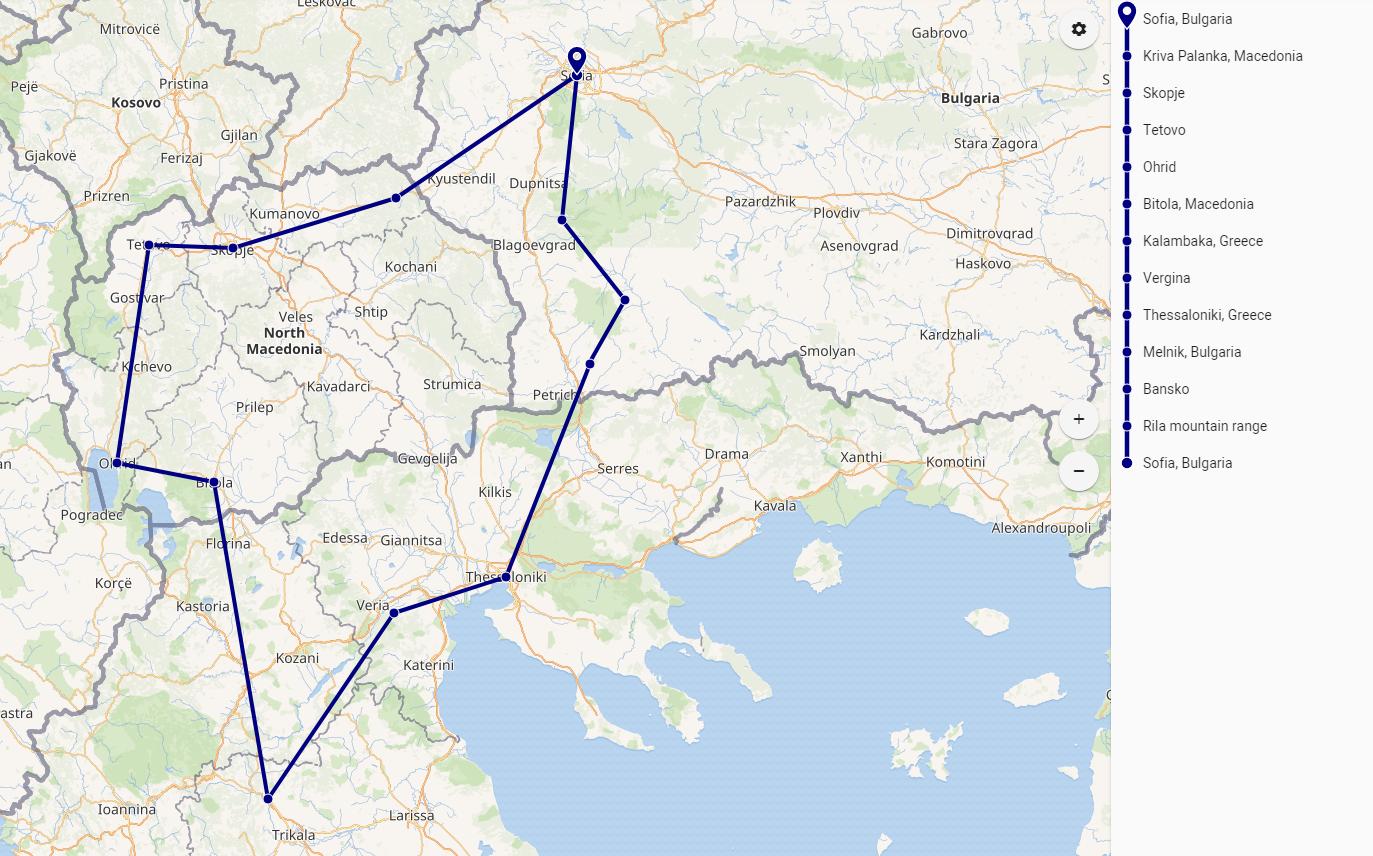 Bulgaria Grecia e Macedonia